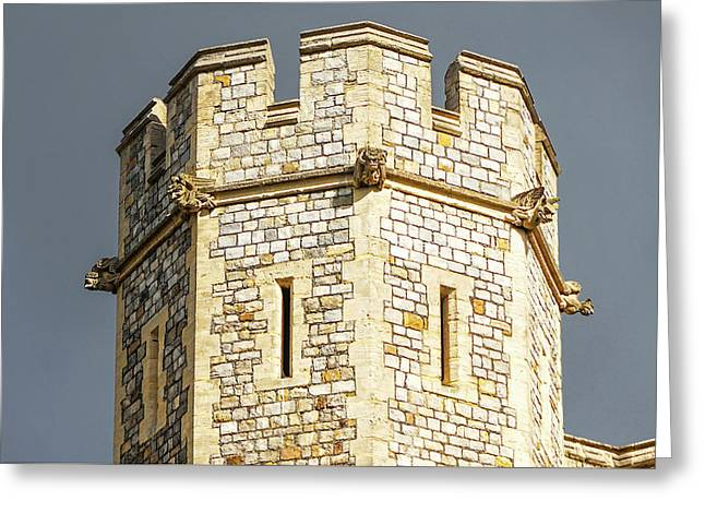 Greeting Card featuring the photograph Windsor Castle Detail by Joe Winkler
