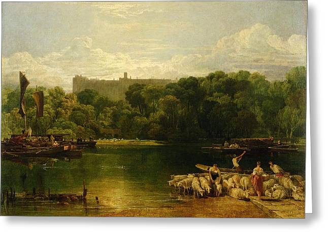 Windsor Castle From The Thames Greeting Card by Joseph Mallord William Turner