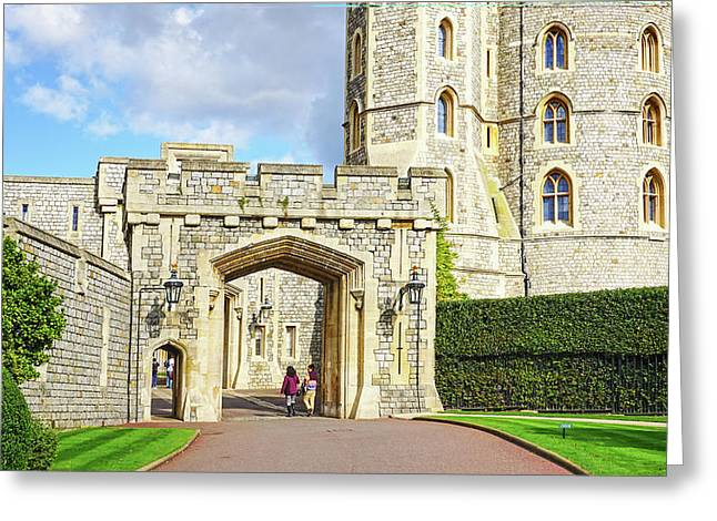 Greeting Card featuring the photograph Windsor Castle Walk by Joe Winkler