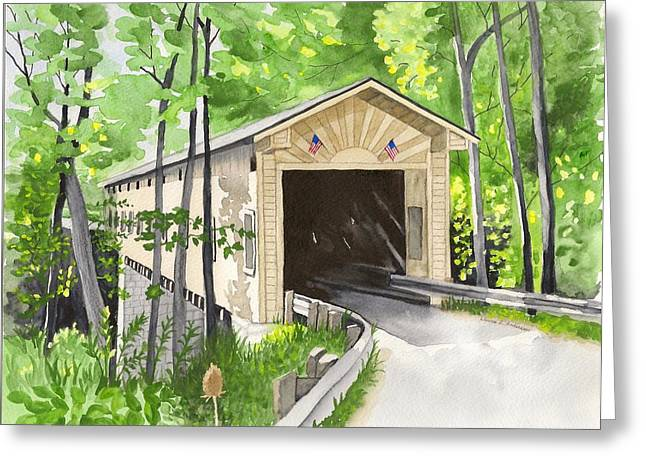 Windsor Mills Bridge Greeting Card