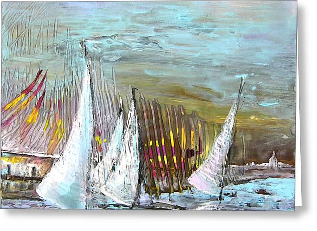Windsurf Impression 03 Greeting Card by Miki De Goodaboom