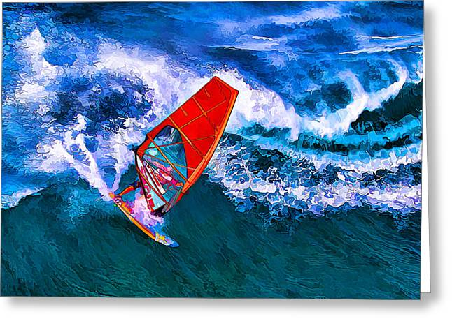 Windsurfer 1 Greeting Card