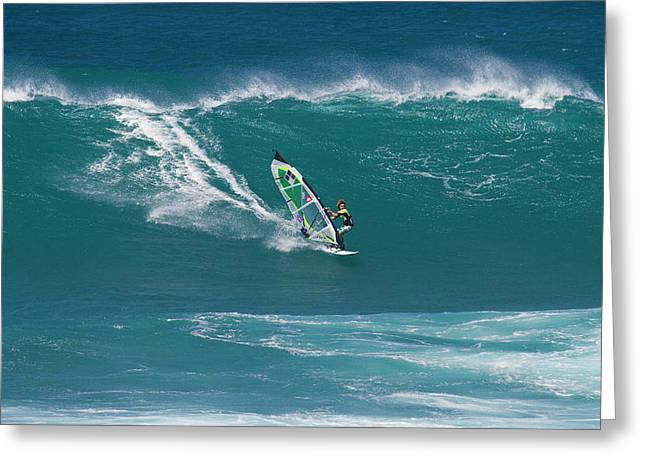 Windsurfer At Hookipa, Maui Greeting Card