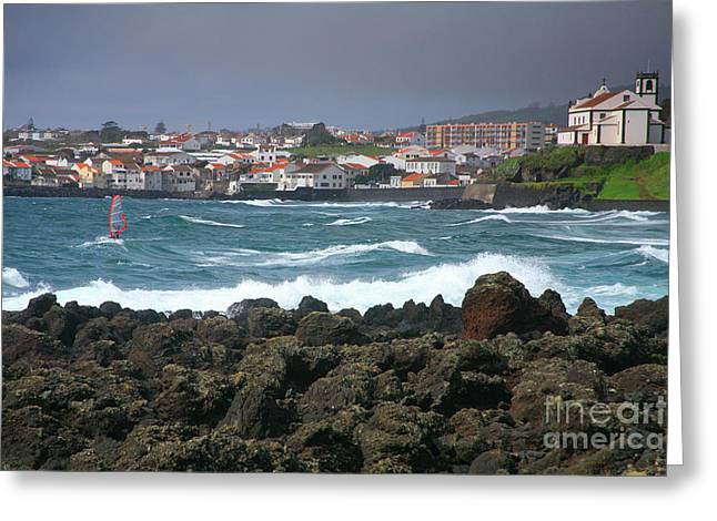Windsurfer In Sao Roque Greeting Card