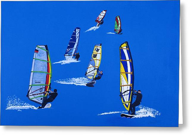 Windsurfers Greeting Card