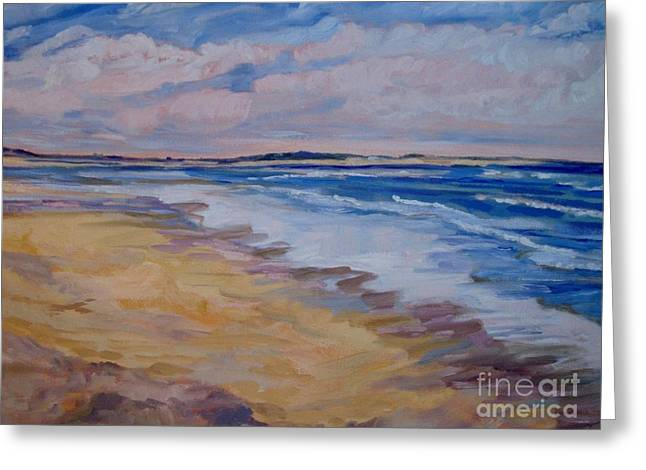 Windswept Beach Greeting Card by Colleen Kidder