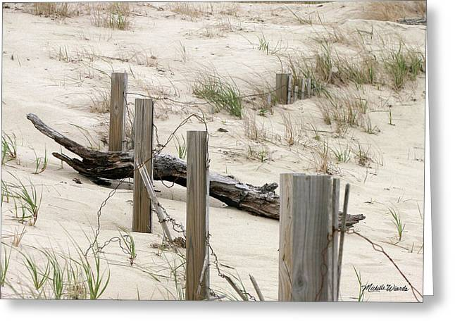 Windswept Beach Fence Cape Cod Massachusetts Greeting Card