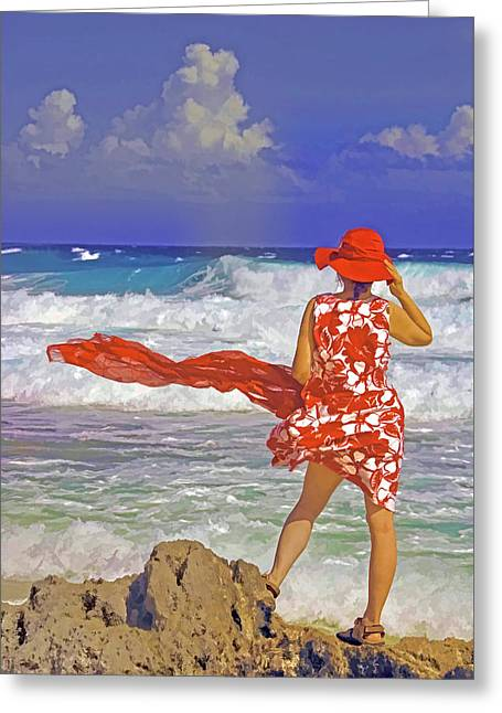 Windswept Greeting Card by Dennis Cox WorldViews