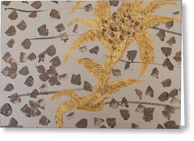 Windswept Golden Plantae #4 Greeting Card by Rachel Hannah