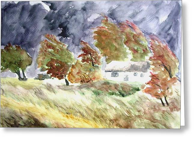 Windswept Landscape Greeting Card