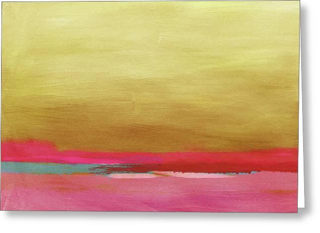 Windswept Sunrise- Art By Linda Woods Greeting Card