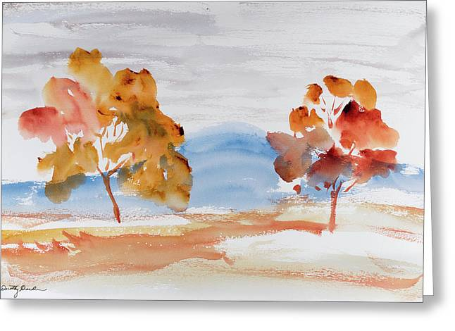 Windy Autumn Colours  Greeting Card