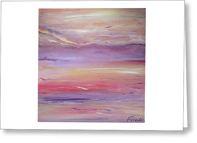 Windy Beach Greeting Card by Florence Cliffe