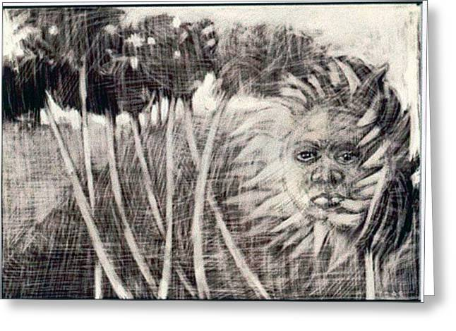 Windy Greeting Card by Chester Elmore