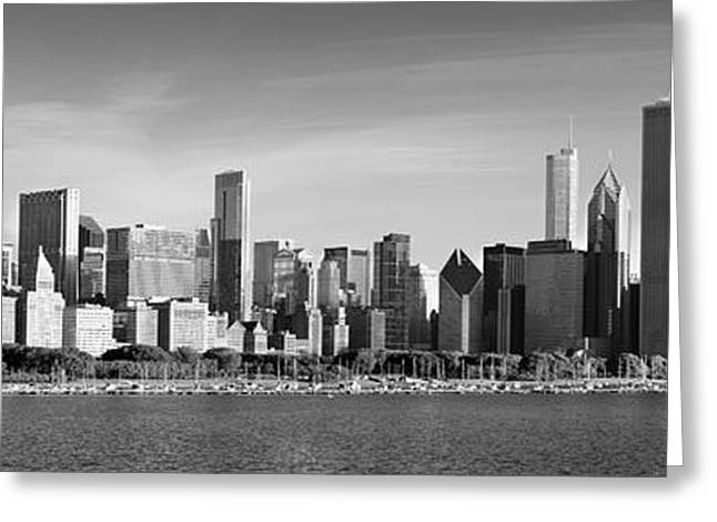 Windy City Morning Greeting Card by Donald Schwartz