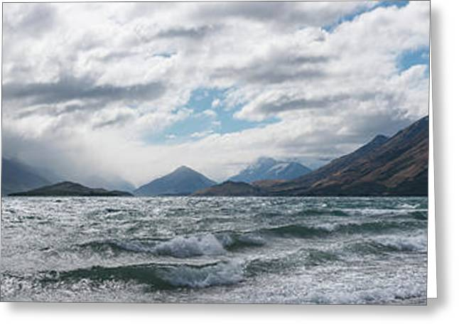 Greeting Card featuring the photograph Windy Day On Lake Wakatipu by Gary Eason
