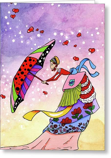 Windy Days Greeting Card by Dawnstarstudios