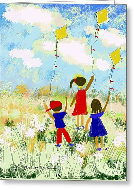 Windy Days Greeting Card