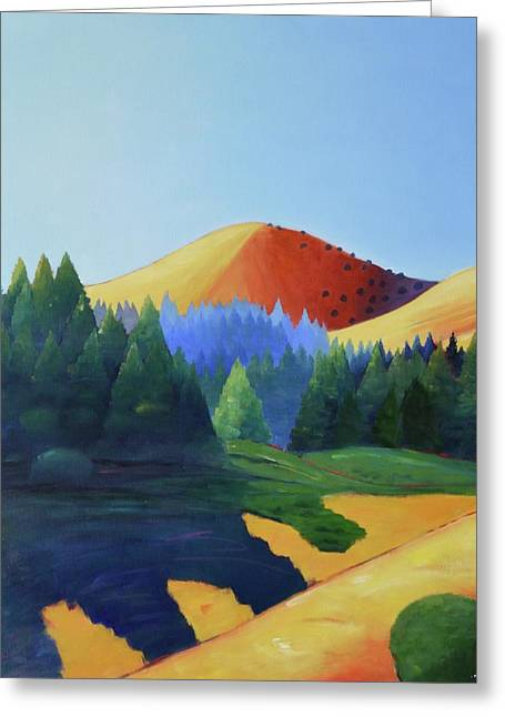 Windy Hill Triptych I Greeting Card by Gary Coleman