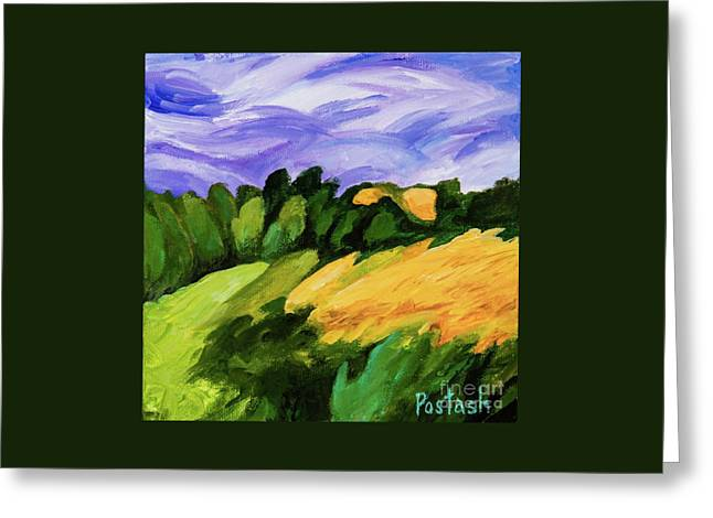 Greeting Card featuring the painting Windy by Igor Postash