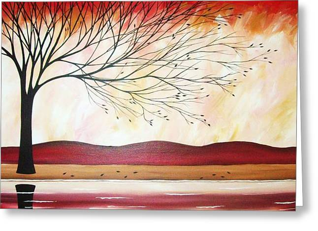 Windy Red River Greeting Card by Peggy Davis