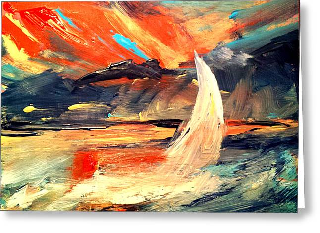 Windy Sail Greeting Card