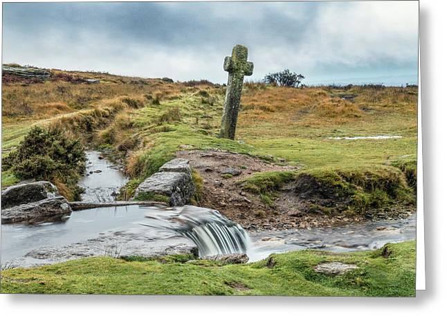 Windypost Cross - Dartmoor Greeting Card