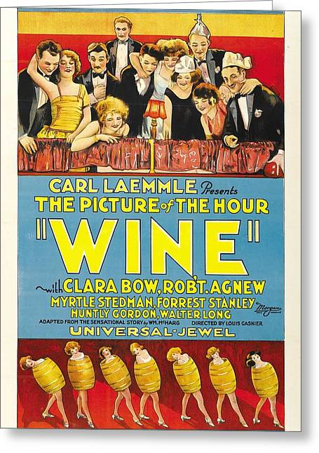 Wine 1924 Greeting Card