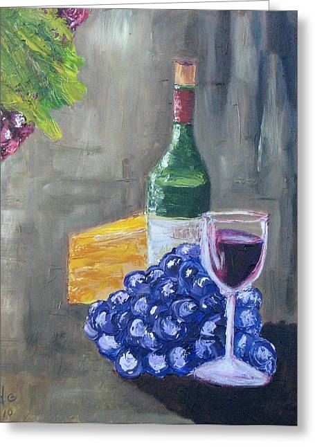 Wine And Cheese Greeting Card by Craig Wade