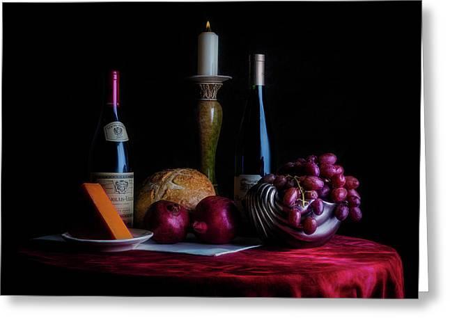 Wine And Dine II Greeting Card