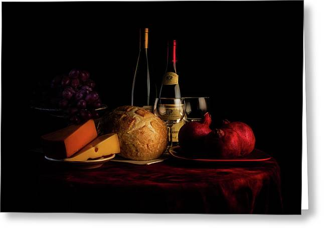 Wine And Dine Greeting Card