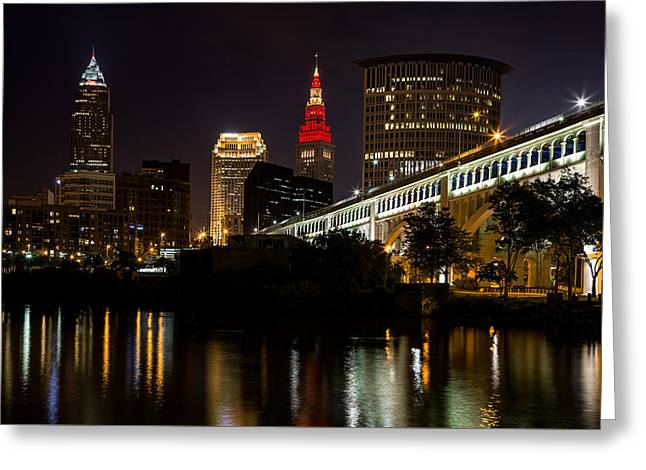 Wine And Gold In Cleveland Greeting Card