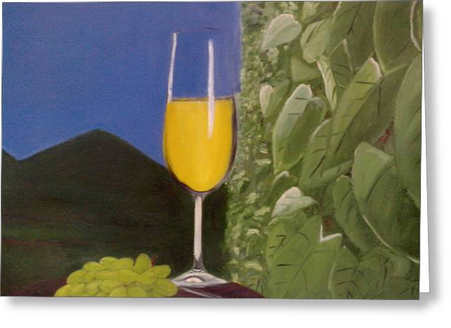 Wine Greeting Card by Ashish Nautiyal
