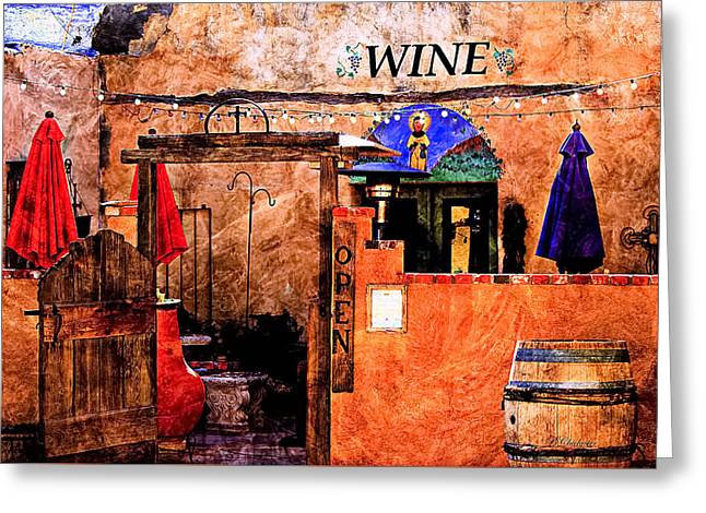 Wine Bar Of The Southwest Greeting Card by Barbara Chichester