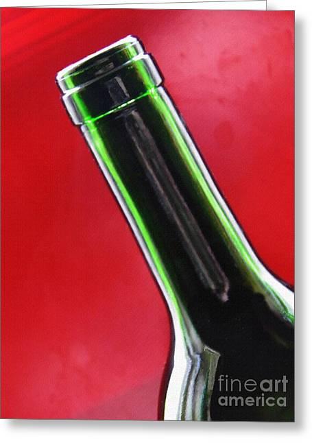 Wine Bottles 8 Greeting Card by Sarah Loft