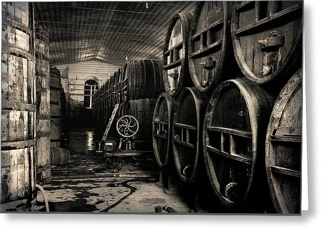 Wine Cellar 1939 Greeting Card by Daniel Hagerman