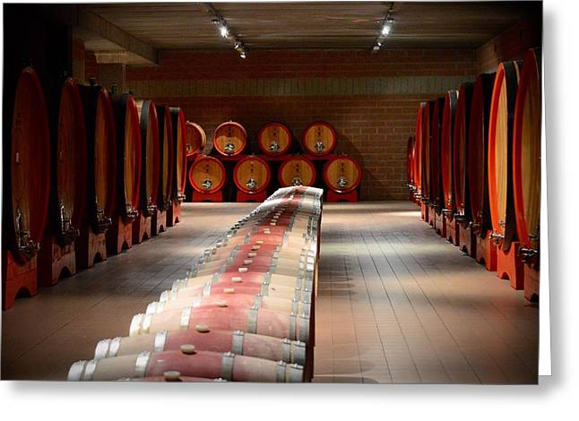 Wine Cellar In Montalcino Greeting Card