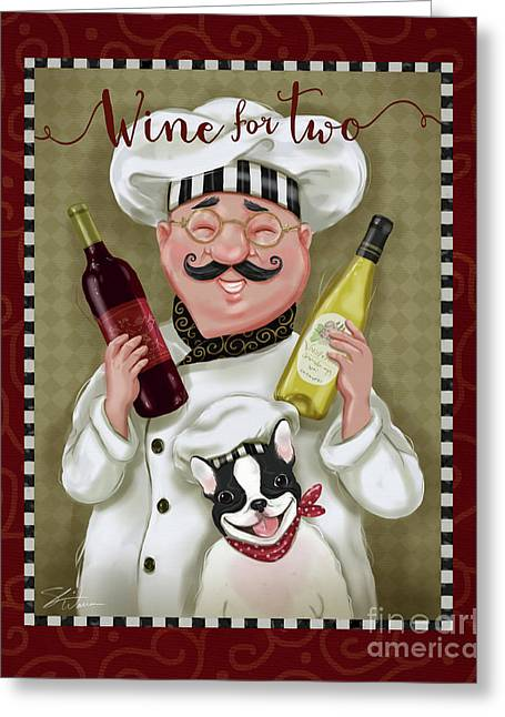 Wine Chef-wine For Two Greeting Card
