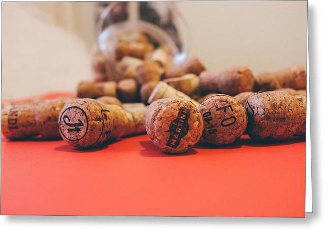 Label Greeting Cards - Wine Cork Collection Greeting Card by Olichel Adamovich