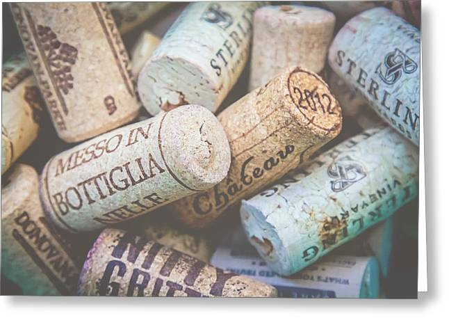 Wine Corks Greeting Card by April Reppucci