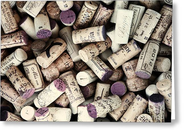 Wine Corks Greeting Card by Bedros Awak