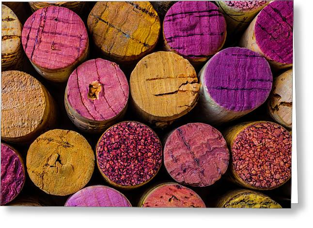 Wine Corks Close Up Greeting Card