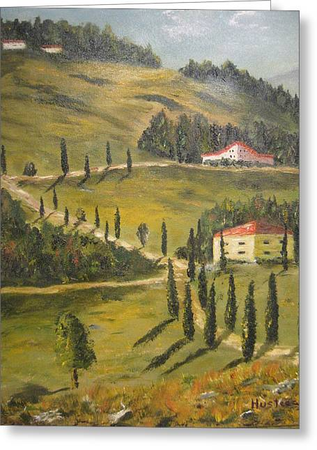 Wine Country Greeting Card by Brian Hustead