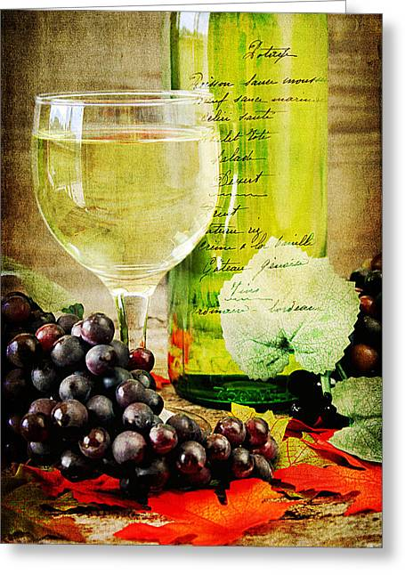 Grapevine Greeting Cards - WIne Greeting Card by Darren Fisher