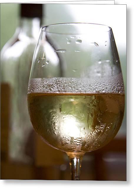 Wine Greeting Card by Deborah Molitoris