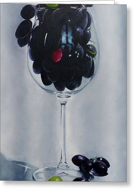 Wine For The Health Conscious Greeting Card by Kay Ashton