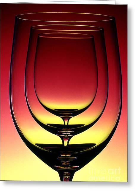 Wine Glass 4 Greeting Card