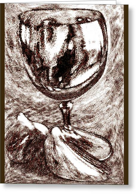 Wine Glass And Figs Still Life Greeting Card