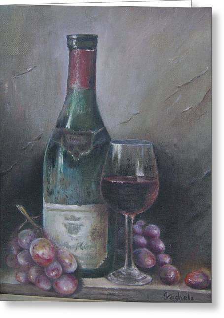 Wine Glass Greeting Card by Illa Vaghela