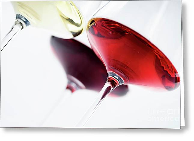 Wine Glass Greeting Card by Jelena Jovanovic